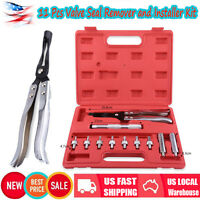 Us Auto Valve Stem Seal Plier Seating Pliers Remover Installer Tool Kit Set