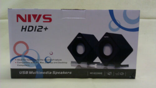 NIVS HD12 USB Powered Speakers for Laptop Brand New in Retail Box