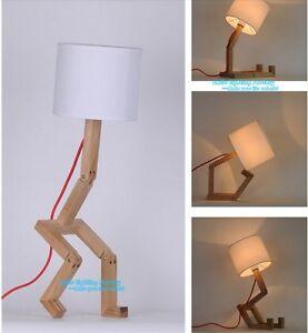 Superbe Image Is Loading Creative Protecting Eye Robot Desk Light Original Wood