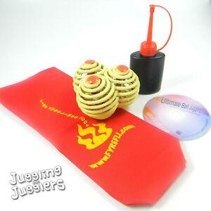 3-x-Fyrefli-Made-with-Kevlar-68mm-Juggling-Fire-Balls-amp-Free-DVD-deal