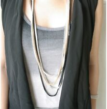 Combo Four Layer Multi Color Individual Chain Pendant Statement Necklace Jewelry