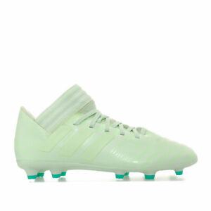 Adidas-Enfants-Garcons-nemeziz-17-3-Terre-Ferme-Chaussures-De-Football-en-vert