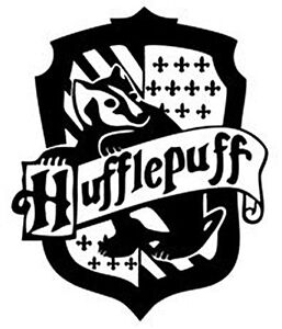 Harry potter hufflepuff coat of arms shield cut vinyl wall Vinilos pared harry potter