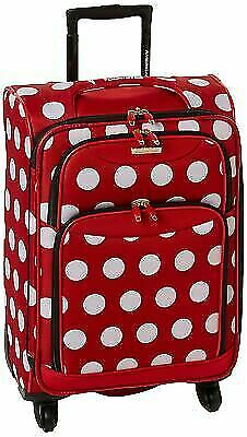 ebe32a4aed12 American Tourister Disney Minnie Mouse Polka Dot Softside Spinner 21 Multi  for sale online | eBay