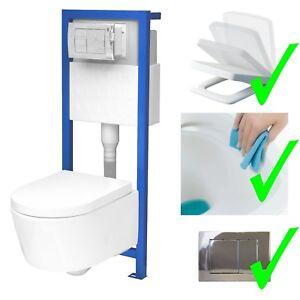Beliebt All-In-One Lavita Vorwandelement + Wand WC ohne Spülrand + WC-Sitz LI43