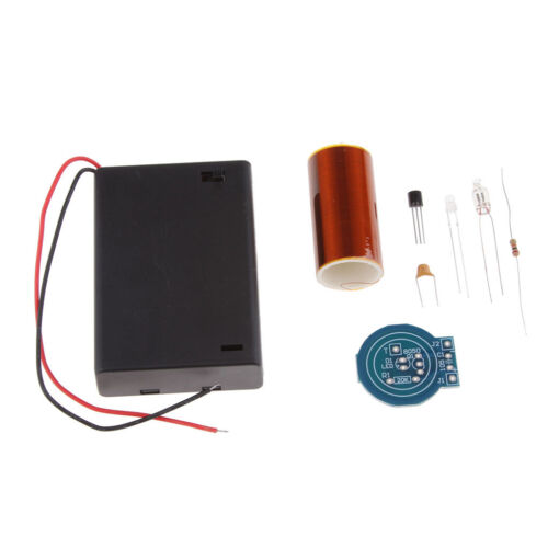 Powerful Mini Tesla Coil Wireless Transmission Battery Powered Lighting DIY