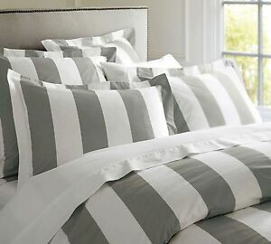 Hamptons-Doona-Duvet-King-Quilt-Cover-Set-Charcoal-Grey-And-White-245-x-210-cm