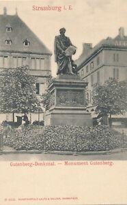 STRASBOURG-Gutenberg-Denkmal-Gutenberg-Monument-France-udb-pre-1908