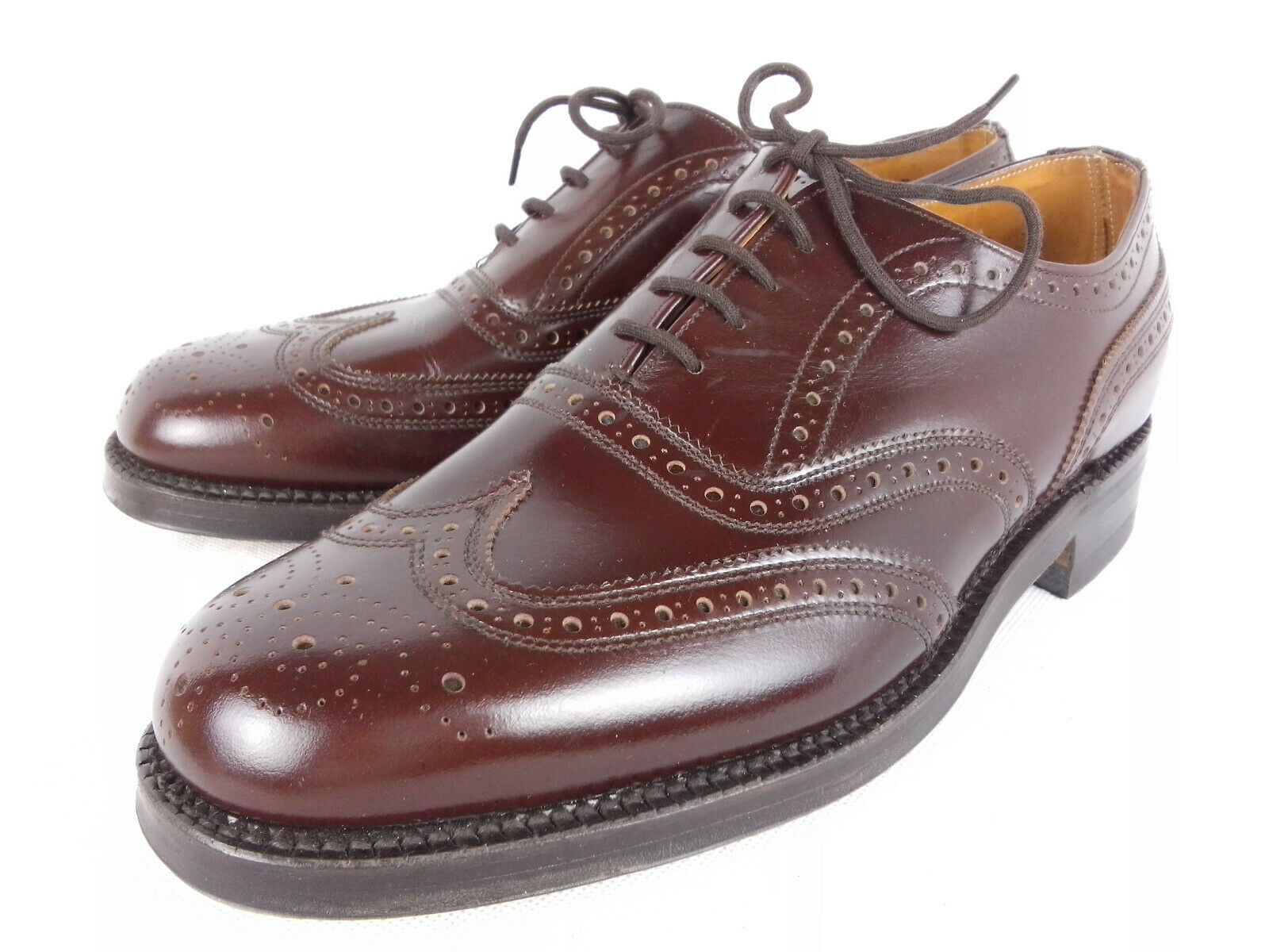 Cheaney para Dunn & Co BNWOB Marrón Pulido de piel de becerro Brogue Oxford Uk 7 F nos