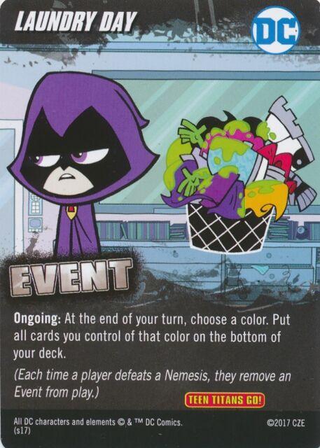 CONTROL FREAK DC Comics Deck Building Game card TEEN TITANS GO!