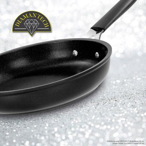 BARAZZONI Antihaft Pfanne 33-CARATI 24 cm Silikongriff Titan Diamant Induktion