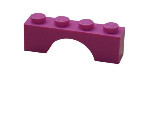 Lego 50x Bogen 1x4 dunkel rosa 3659 Neu dark pink Brick Arch 1 x 4 New
