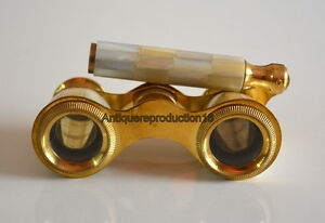Brass Mother Of Pearl Binocular Opera Glasses Binocular