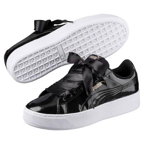 Puma Vikky Platform Ribbon P Sneaker Damen Schuhe 366419 01 Black
