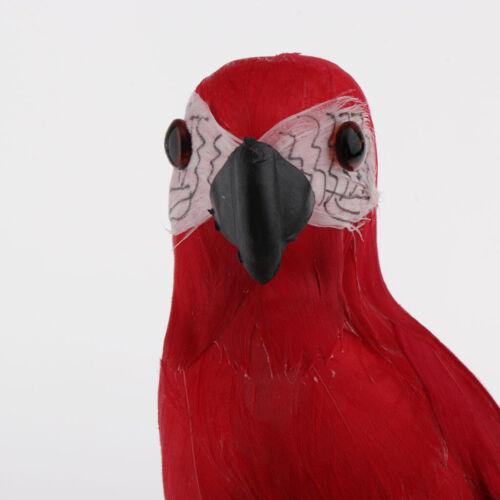 Extrem Realistische Dekofigur Papagei Figur Tierfigur Skulptur für Kränze G