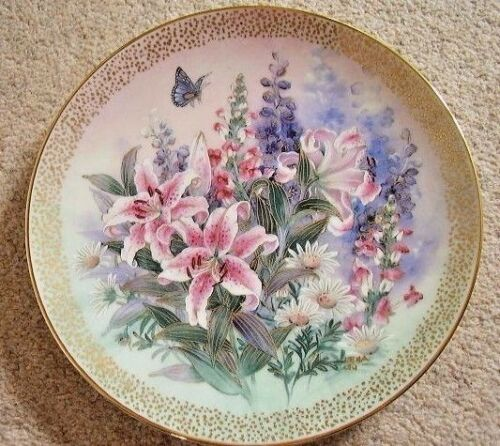 Collectable Lena Liu Bradford exchange by George porcelain plate,Lily Concerto