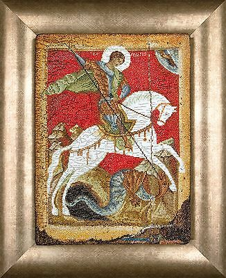 GEORGE  ICON  COUNTED CROSS STITCH KIT  Aida THEA GOUVERNEUR 498A  ST