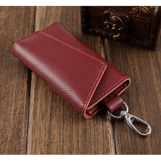 Men Women Leather Key Bag Keychain Credit Card holder Keyholder Case Purse