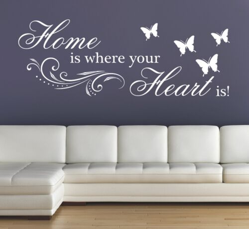 X59 murales hechizo-home is where your heart is hogar pared Pegatina