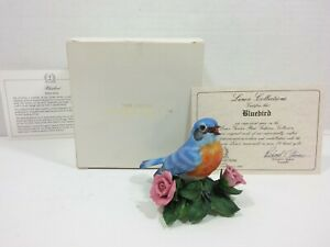 The-Lenox-Jardin-Ave-Coleccion-Pajaro-Azul-Fino-Porcelana-1986