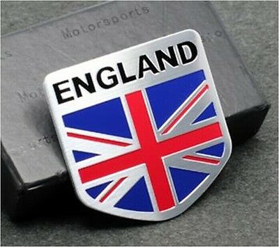 Metal Auto Racing Sports Emblem Badge Decal Sticker For UK United Kingdom Flag