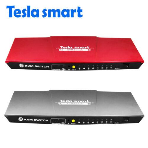 TESLA 4K 4 Ports 4X1 USB KVM HDMI Switch 4 Ways support 4K USB IR Signal