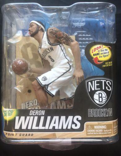 McFARLANE NBA Series 22 Deron Williams filets uniforme blanc Figure