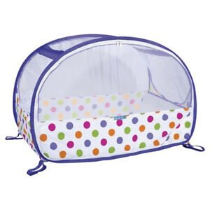 Koo-di-Pop-up-compatto-bolla-Home-Travel-Baby-Culla-con-borsa-da-trasporto-Viola-Dot