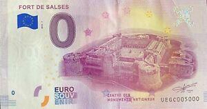 BILLET-0-EURO-FORT-DE-SALSES-FRANCE-2018-NUMERO-5000-DERNIER-BILLET