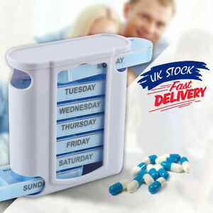 Pill-Box-Organiser-Case-Tablet-Container-Dispenser-Storage-7-Day-Weekly-Daily-UK