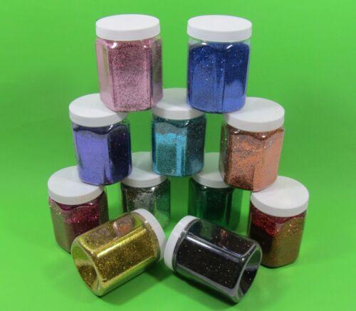"""Glitter Glitterstaub 11 Farben im SET pro Dose Inhalt 350g /""""Hohe Qualität/"""" 1800"""
