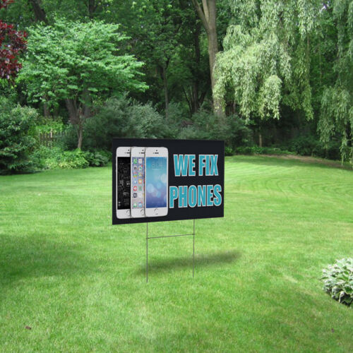 We Fix Phones #5 Outdoor Lawn Decoration Corrugated Plastic Yard Sign