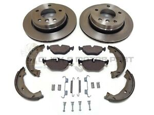 BMW E46 E36 320 320D 323 328 REAR 2 BRAKE DISCS AND PADS SET NEW