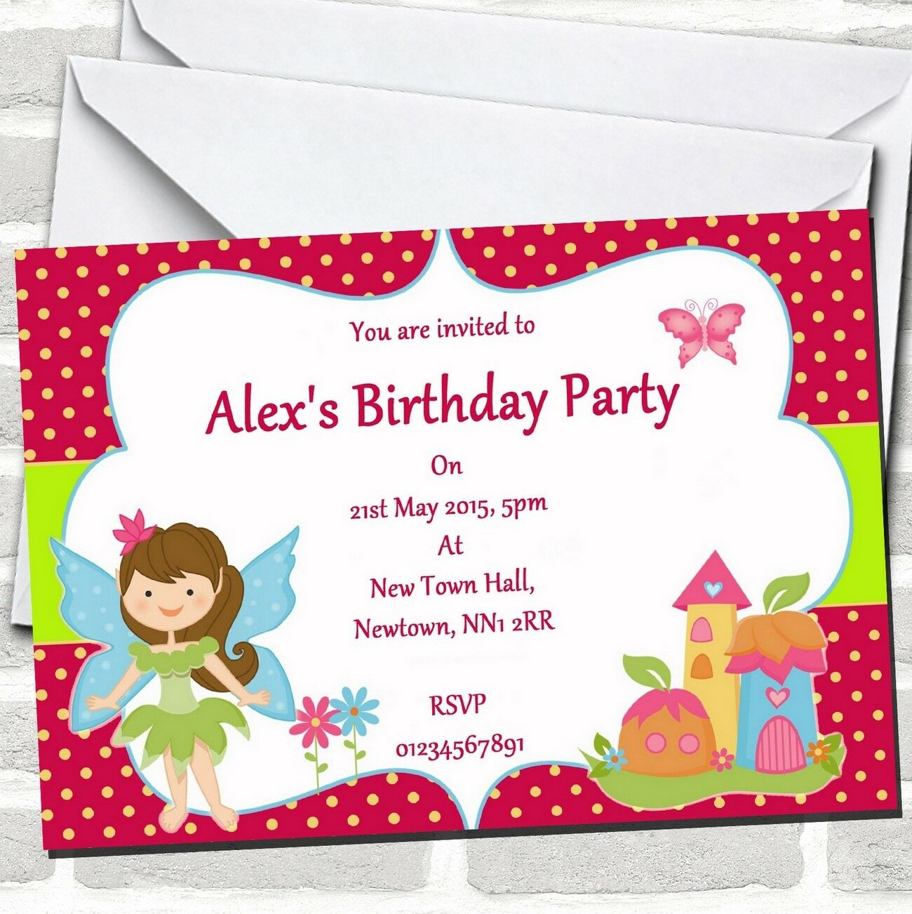 Fairy Pixie Birthday Party Invitations 2abb04