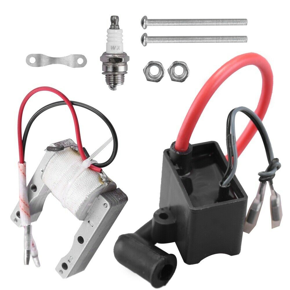 50cc 60cc 66cc 80cc 2-stroke Engines Motorized Bicycle Motor Bike ATV Quad Scooter QAZAKY Performance 2-Wire Magneto Coil Spark Plug Replacement for 49cc CDI Ignition Coil