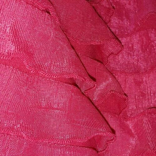 SOLD BY THE METER STRETCH RUFFLED JERSEY FABRIC 3 COLOUR