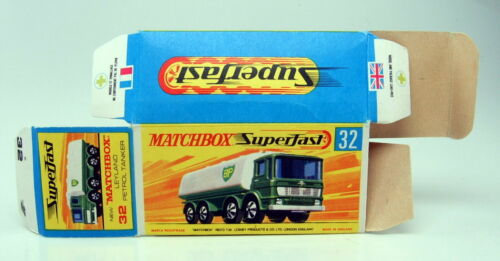"Matchbox Superfast 32A Leyland Tanker /""BP/"" leere originale /""H/"" Box top"