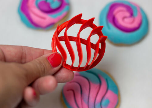 """Set of Two Mini 2/"""" Spiral and Wave Pattern Manteconcha Stamp Mini Concha Cutter"""
