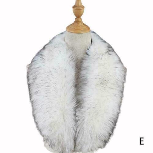 Frauen Pelzkragen für Mantel Pullover Daunenjacke Kapuze Sc Winter H1T9 Del E4M5