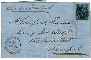 Canada-1856-outer-letter-sheet-to-England-Scott-7-3250