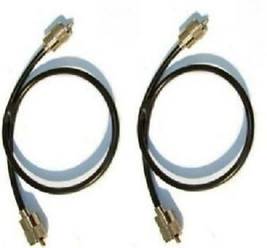 2-X-9-034-23CM-PL259-RG58-50-OHM-PATCH-LEADS-for-CB-and-Amateur-Ham-Radio