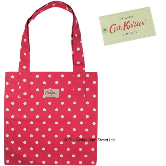 Cath Kidston Tote Bag - 100% cotton - Spot (red) *100% authentic* *BNWT*