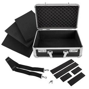 anndora-Fotokoffer-40x19x26cm-schwarz-Kamerakoffer-Alukoffer-Aluminium-Werkzeug