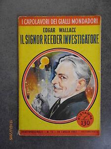 IL-SIGNOR-REEDER-INVESTIGATORE-Edgar-Wallace-Ed-Mondadori-1957