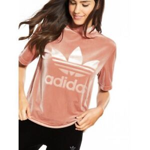 Velvet Tee Originals Mock About Pink Adidas Shirt Vibes Women's Details T 1709 Boxy Rose Neck EH9DeWY2Ib