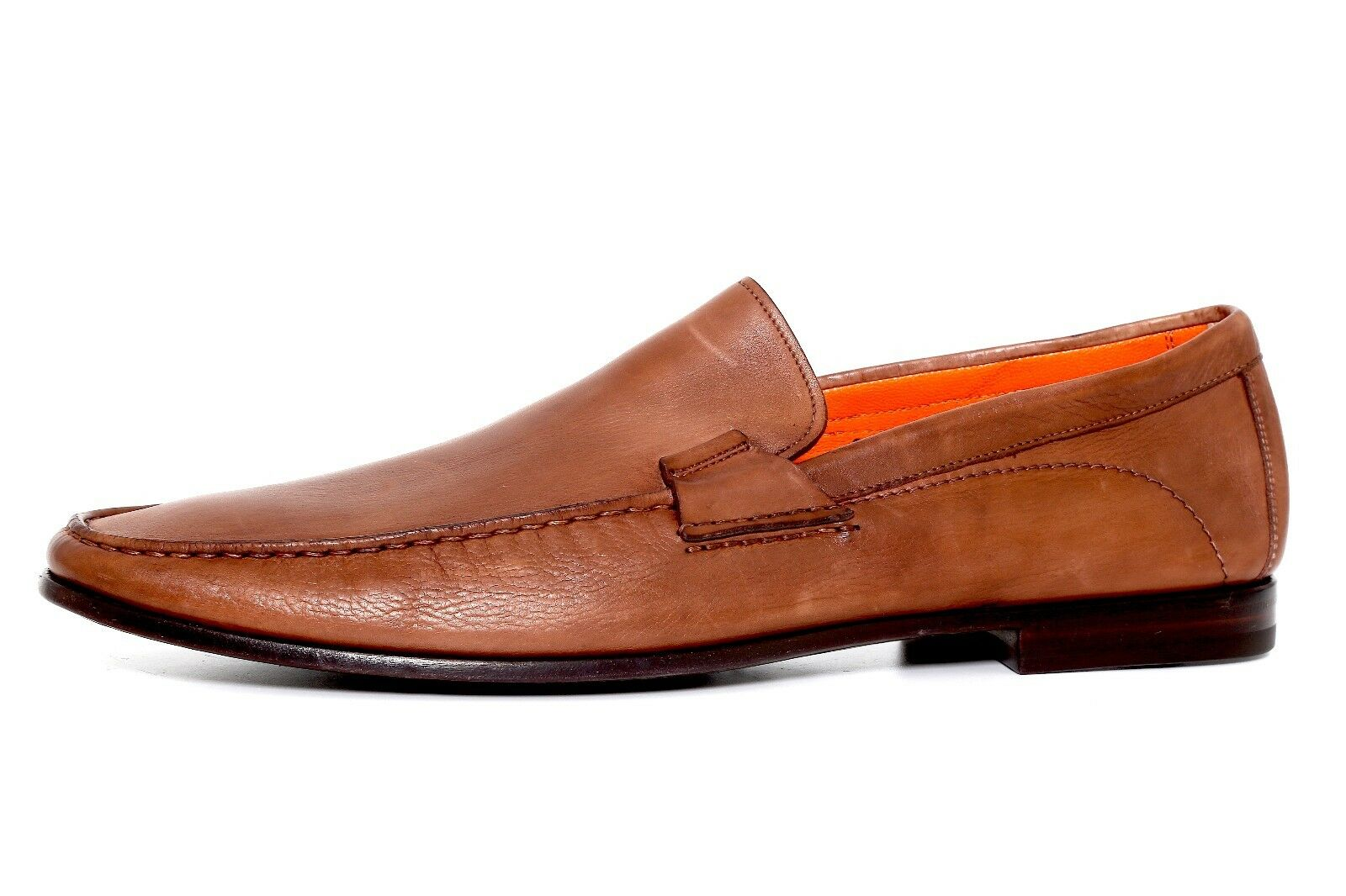 Santoni Men's Brown Leather Loafers 2463 Size 13 B