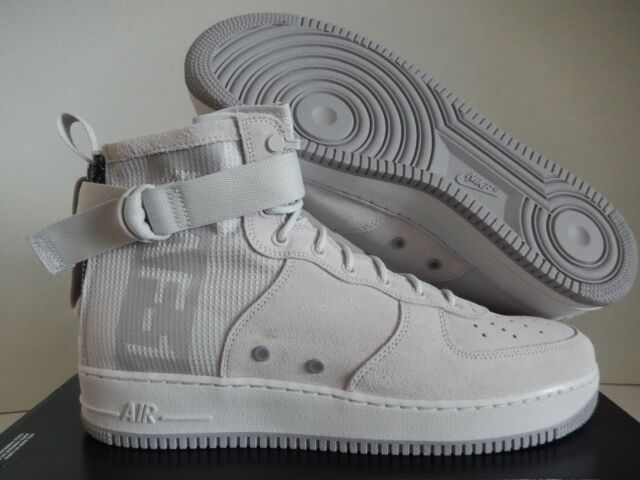 100% top quality new york official Nike Sz 14 SF Air Force 1 Mid Suede Grey Atmosphere Special Forces  Aj9502-001