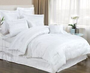 8 piece white bedding set includes comforter king queen