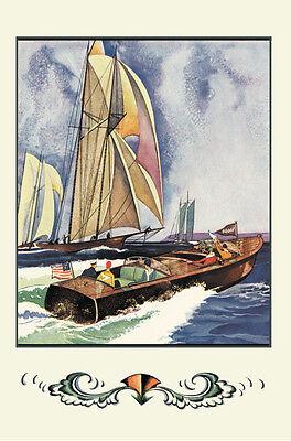 "Cruisers, Sailboats & Runabouts Dodge Boats Poster 20"" x 30"" Nautical Art Decor"