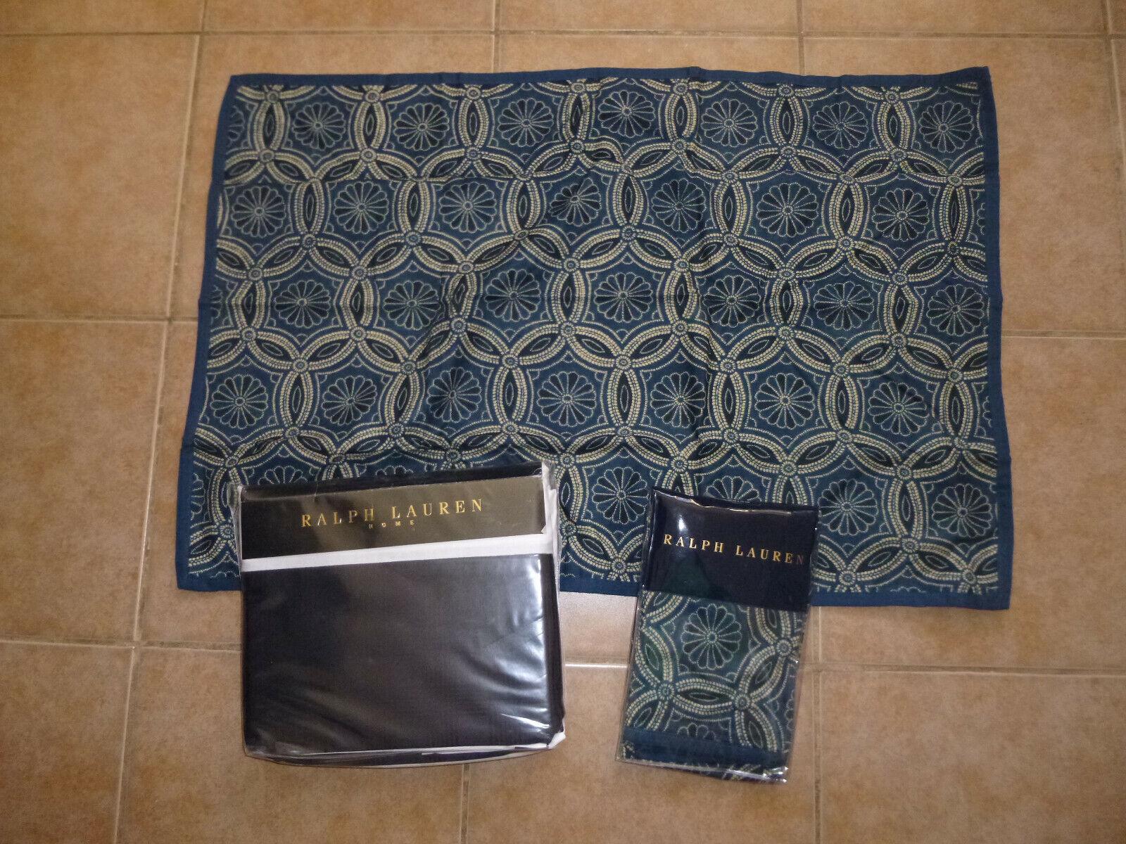 Ralph Lauren HOME 100%COTTON QUEEN flat sheet + 2x Standard Pillow Case  607